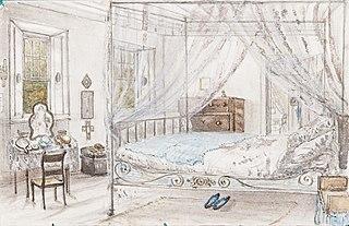 The Spot - My Bedroom looking towards Mrs. (ilegível) room - 25. August 1854
