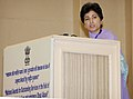 The Union Minister for Social Justice & Empowerment, Kum. Selja addressing at the presentation of the National Awards for Outstanding Services in the field of Prevention of Alcoholism and Substance (Drugs) Abuse, 2013.jpg