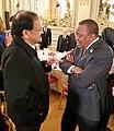 The Vice President, Shri M. Venkaiah Naidu meeting the President of Kenya, Mr. Uhuru Kenyatta, at the banquet hosted by the President of France, in Paris, France on November 10, 2018.JPG