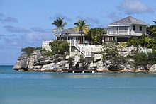 The View From Solrs Bay Antigua Towards Resort