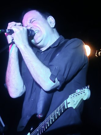 The Wedding Present - David Gedge, singer of The Wedding Present in Valencia, Spain. October 2016