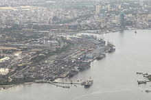 The bird's view of the harbour in Dar es Salaam.jpg