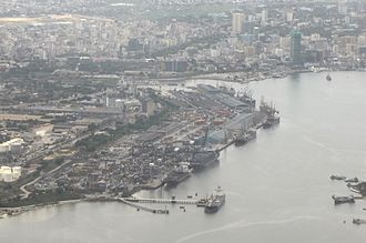 Port of Dar es Salaam - An aerial view of The Port of Dar es Salaam during the day time.