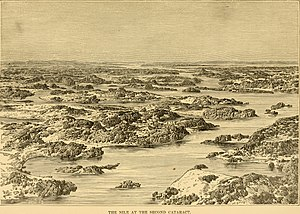 Egyptian invasion of Sudan 1820–24 - The second cataract of the Nile, illustrated in 1886, after Ismail's forces made it navigable