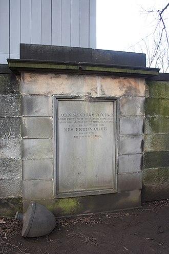 John Manderston - The grave of John Manderston, Greyfriars Kitkyard