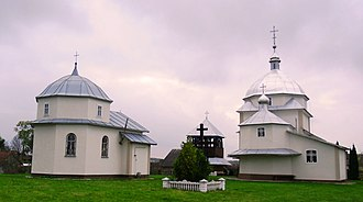 Prylbychi - Image: The newly rebuilt church in the village Prylbychi