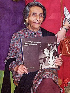 The photograph of Mrs. Homai Vyarawalla of Vadodara, one of the recipients of the First National Photo Award – Life Time Achievement 2010. The Vice President.jpg