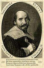 Portrait engraving of Theodore Bleuet