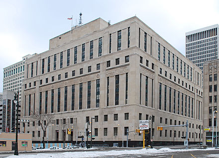 Theodore Levin United States Courthouse, Downtown Theodore Levin United States Courthouse Detroit MI.jpg