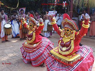 Culture of Kerala - Thirayattam -( Bagavathi vellattu )