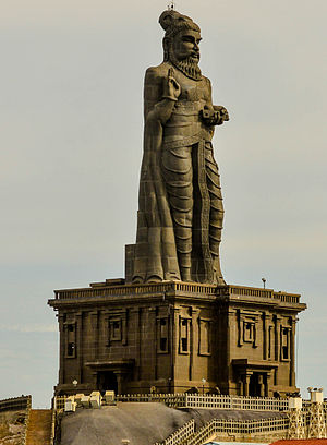 Tirukkuṛaḷ - The statue of Valluvar at Kanyakumari, India