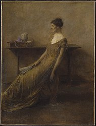 Thomas Dewing: Lady in Gold