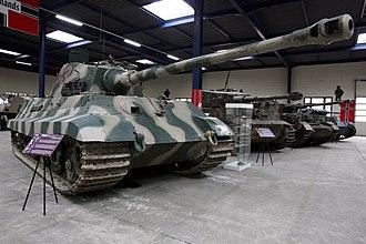 8.8 cm KwK 43 - A Tiger II mounting an 8.8 cm KwK 43 gun, preserved at the Musée des Blindés.