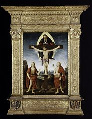 The Holy Trinity with Saint John the Baptist and Saint Sebastian
