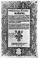 "Title page with woodcut border ""Summa Thome de Garbo"", 1529 Wellcome L0015381.jpg"