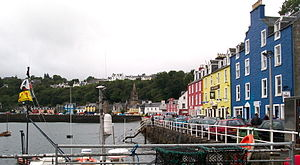Tobermory with seven hundred people, the large...