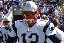 Brady suited up in the stadium