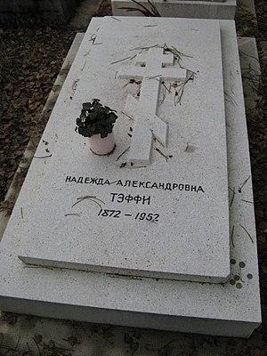 Teffi - Teffi's gravestone