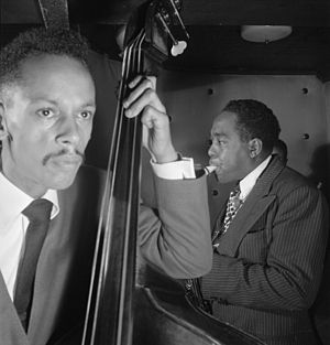 Tommy Potter - Tommy Potter with Charlie Parker, August 1947 Photo: William P. Gottlieb