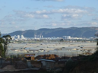 Tonghai County - A view of Tonghai county seat from west-north-west