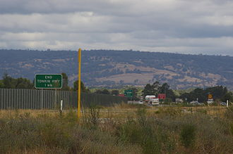 Tonkin Highway - Approach to the current southern end at Thomas Road, Oakford