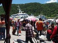 Tourists at the pier of Lyudao 01.jpg