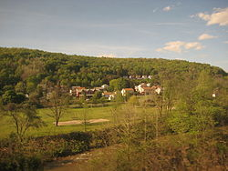 Ehrenfeld from a passing Pennsylvanian train