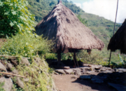 A traditional house in Ifugao situated somewhere atop a mountain