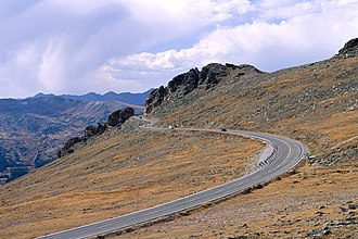 Trail Ridge Road - View of Trail Ridge Road