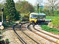 Train arriving at Great Bedwyn Station - geograph.org.uk - 1265832.jpg