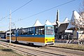 Tram in Sofia in front of Central Railway Station 2012 PD 052.jpg