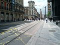 Tramway passes over curb extension (18802893752).jpg
