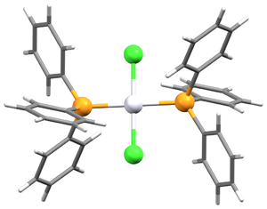 Bis(triphenylphosphine)platinum chloride - Image: Trans Pt(P Ph 3)2Cl 2