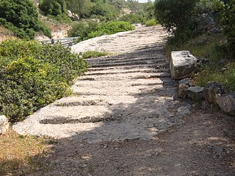 Judea (Roman province) - Old Roman road in Judea (adjacent to regional hwy 375 in Israel)