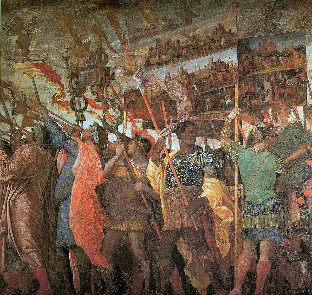Triumphi caesaris mantegna vicipaedia for La corte dei gonzaga mantegna