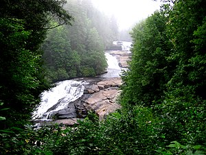 Western North Carolina - Triple Falls in DuPont State Forest, Transylvania County