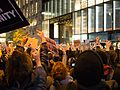 Trump election protest - crowd flips off the Trump Tower 1.jpg