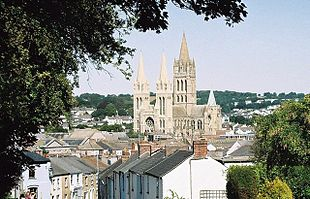 Truro Cathedral, as seen here dominates the city.