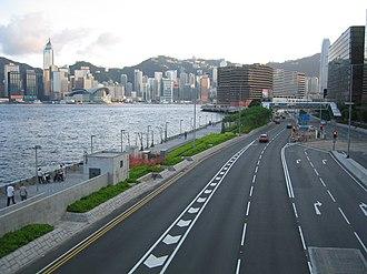 Salisbury Road, Hong Kong - Salisbury Road by the waterfront at Tsim Sha Tsui East (2005)