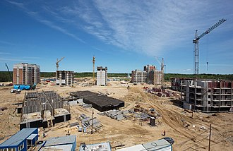 Vostochny Cosmodrome - Construction of residential buildings in Tsiolkovsky, Amur Oblast, next to Vostochny Cosmodrome