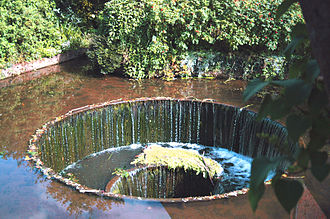 River Otter, Devon -  Close up of the Tumbling Weir.