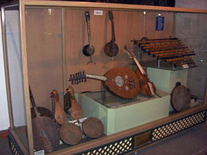 Turkish tambur - The far left instrument is Turkish tambur