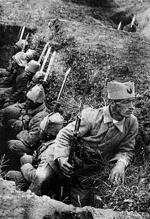 Great Offensive - Image: Turkish infantry in trench