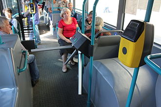 Turnstile - Turnstile inside a Moscow bus