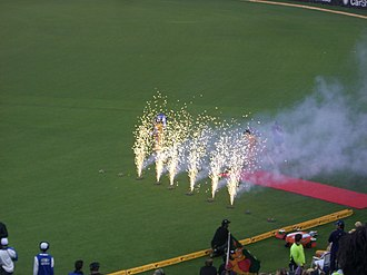 Twenty20 -  Twenty20 matches can have some exciting displays such as when the batsmen run out to the pitch