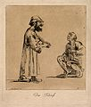 Two philosophers engaged in conversation. Etching by A. Pond Wellcome V0011952.jpg