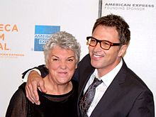 Daly with her brother Tim Daly at the 2009 Tribeca Film Festival