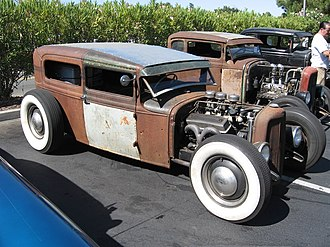 Car tuning - An example of a Rat rod style car