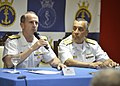 U.S. Navy Chief of Naval Operations Adm. Jonathan W. Greenert, left, and Commander of the Brazilian Navy Adm. Julio Soares de Moura Neto hold a press conference after signing an agreement continuing the Military 130116-N-ZI511-715.jpg