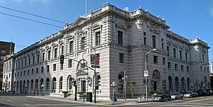 United States v. Gementera - The U.S. Post Office and Courthouse at the corner of 7th and Mission Street in San Francisco.